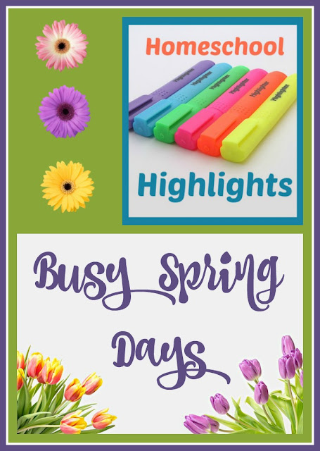 Homeschool Highlights - Busy Spring Days on Homeschool Coffee Break @ kympossibleblog.blogspot.com