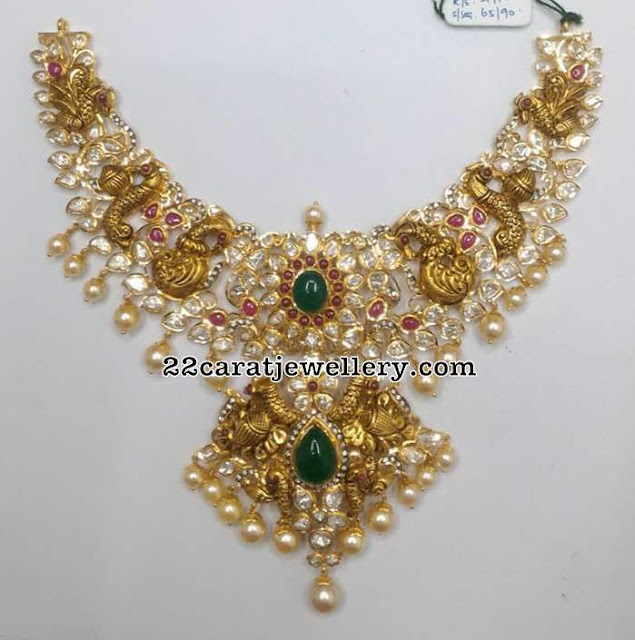 132 Grams Pachi Peacock Necklace
