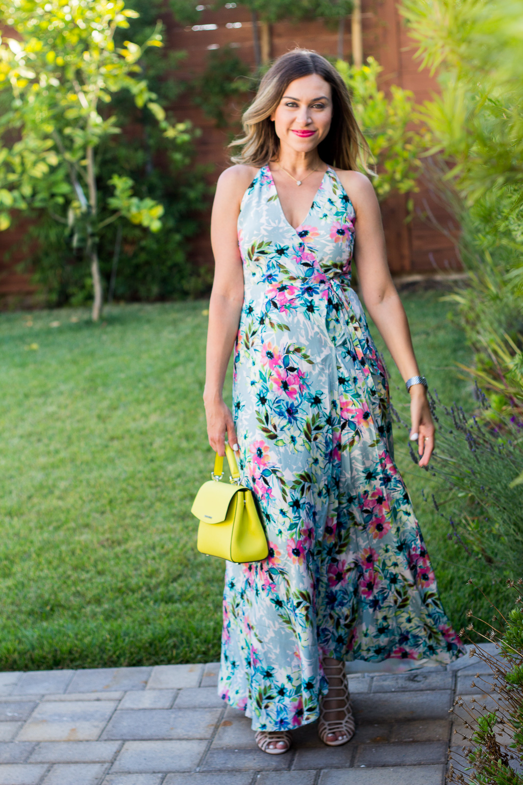 yumi kim rush hour floral print maxi dress