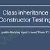 Class inheritance Constructor Test