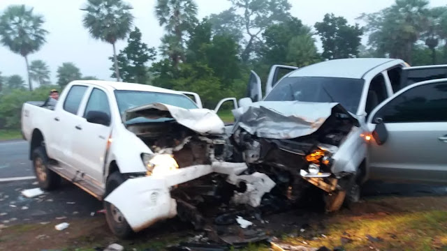 Colisão frontal entre picapes deixa oito feridos no interior do Piauí