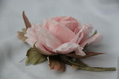 как сделать розу из ткани