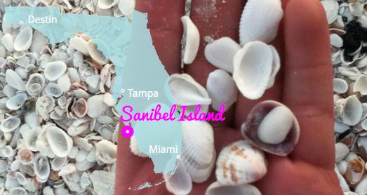 Sanibel Island in Muschelstrände Florida's, Florida USA