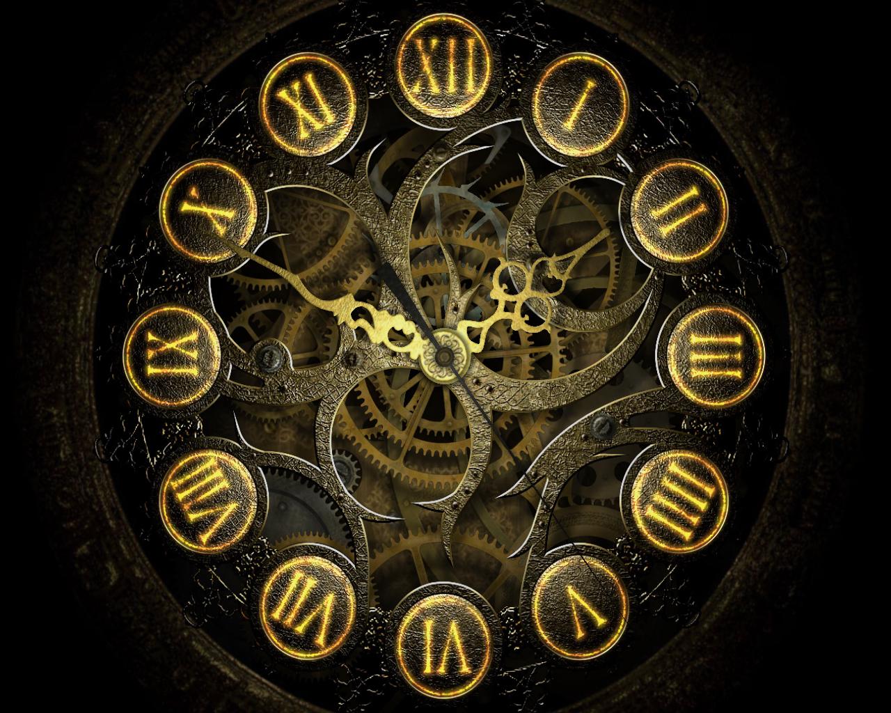 steampunk wallpaper clock - photo #7