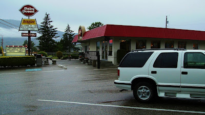 Chevy Blazer in the parking lot at the Osoyoos Dairy Queen