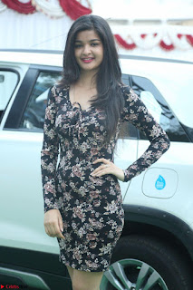 Kritika Telugu cinema Model in Short Flower Print Dress 053.JPG