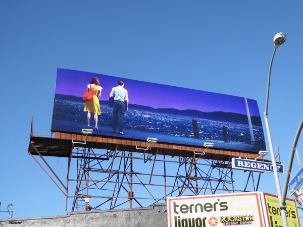 La La Land Oscar nominee billboard