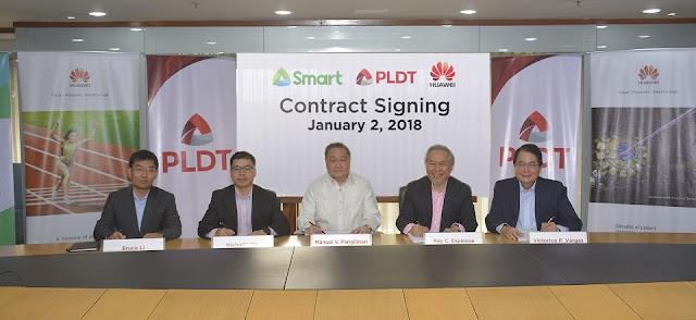 PLDT Huawei Partnership 2018