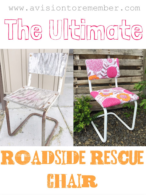 A Vision to Remember Chair Upcycle