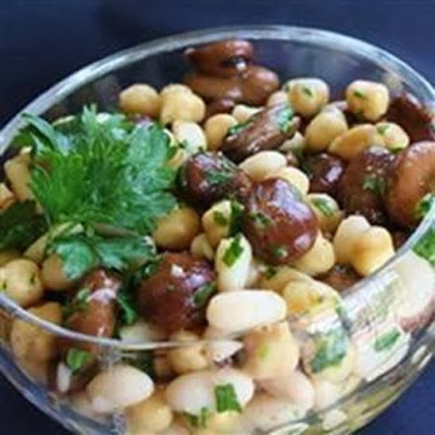 Can be used as a side dish or a snack on it Lebanese Bean Salad Recipe