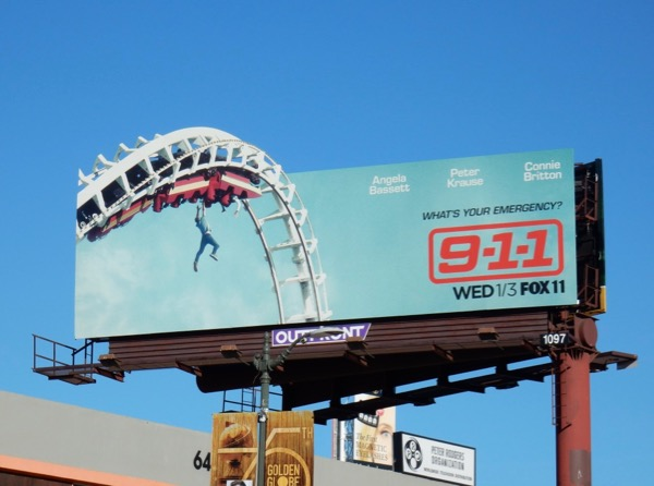 911 series rollercoaster cut-out billboard