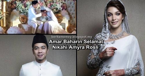 (3 VIDEO) Amar Baharin Selamat Nikahi Amyra Rosli