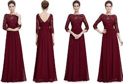 Jual Long Dress Pesta Elegan Gamis Brokat