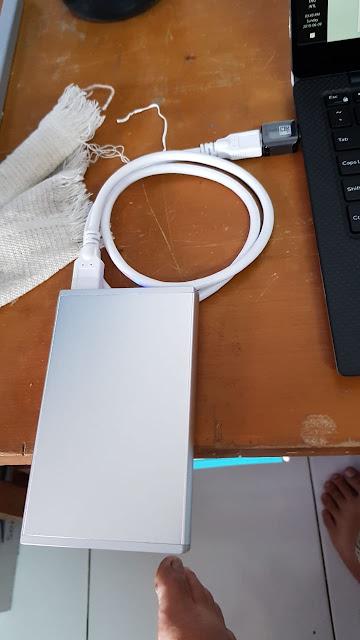 HDD External + USB A 3.0 + OTG Type C Samsung S8 Original