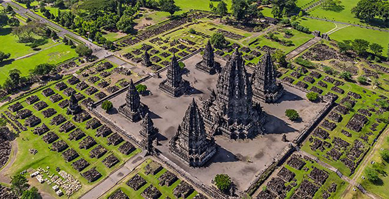 Asia Magnificent Prambanan Temple Compounds as UNESCO sites