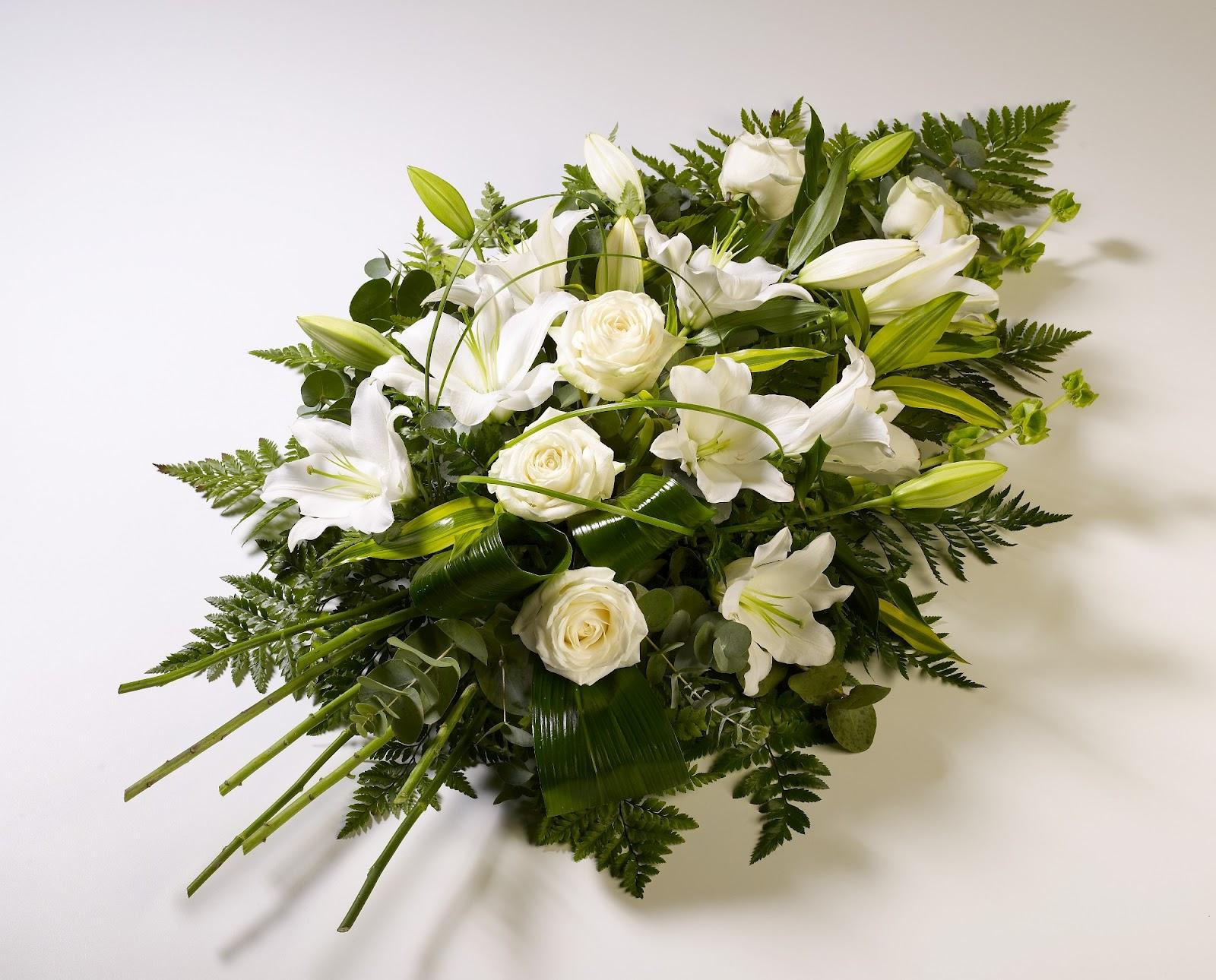 Casket Spray of beautiful wildflowers | Casket flowers  |Casket Flowers