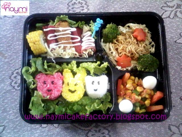 Naymi Cake Factory Nasi Bento Kids Kyaraben