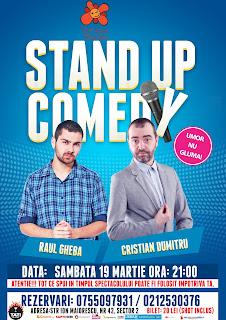 Stand-Up Comedy Sambata 19 Martie Bucuresti