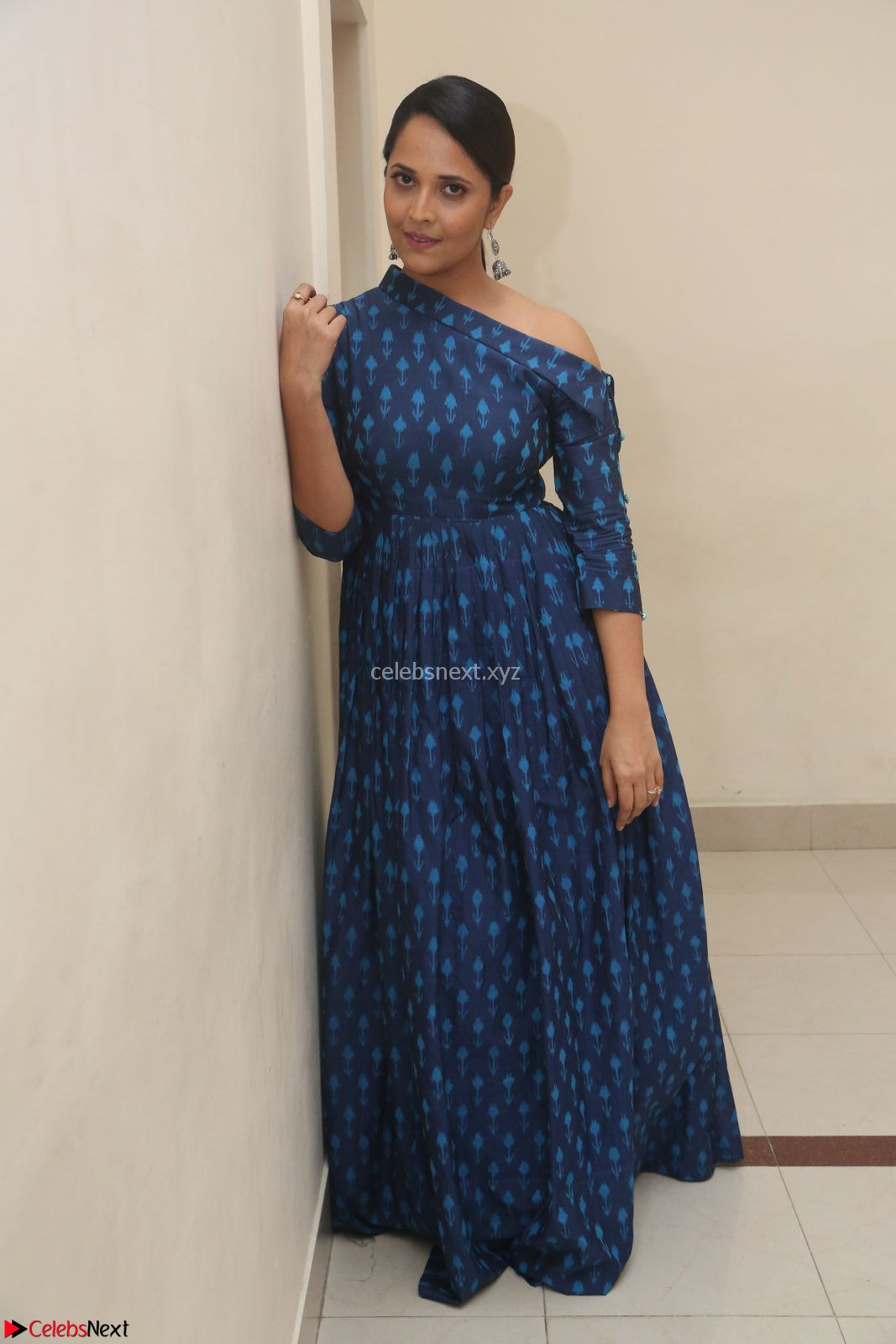 Anchor Anasuya in a Blue Gown at Jai Lava Kusa Trailer Launch