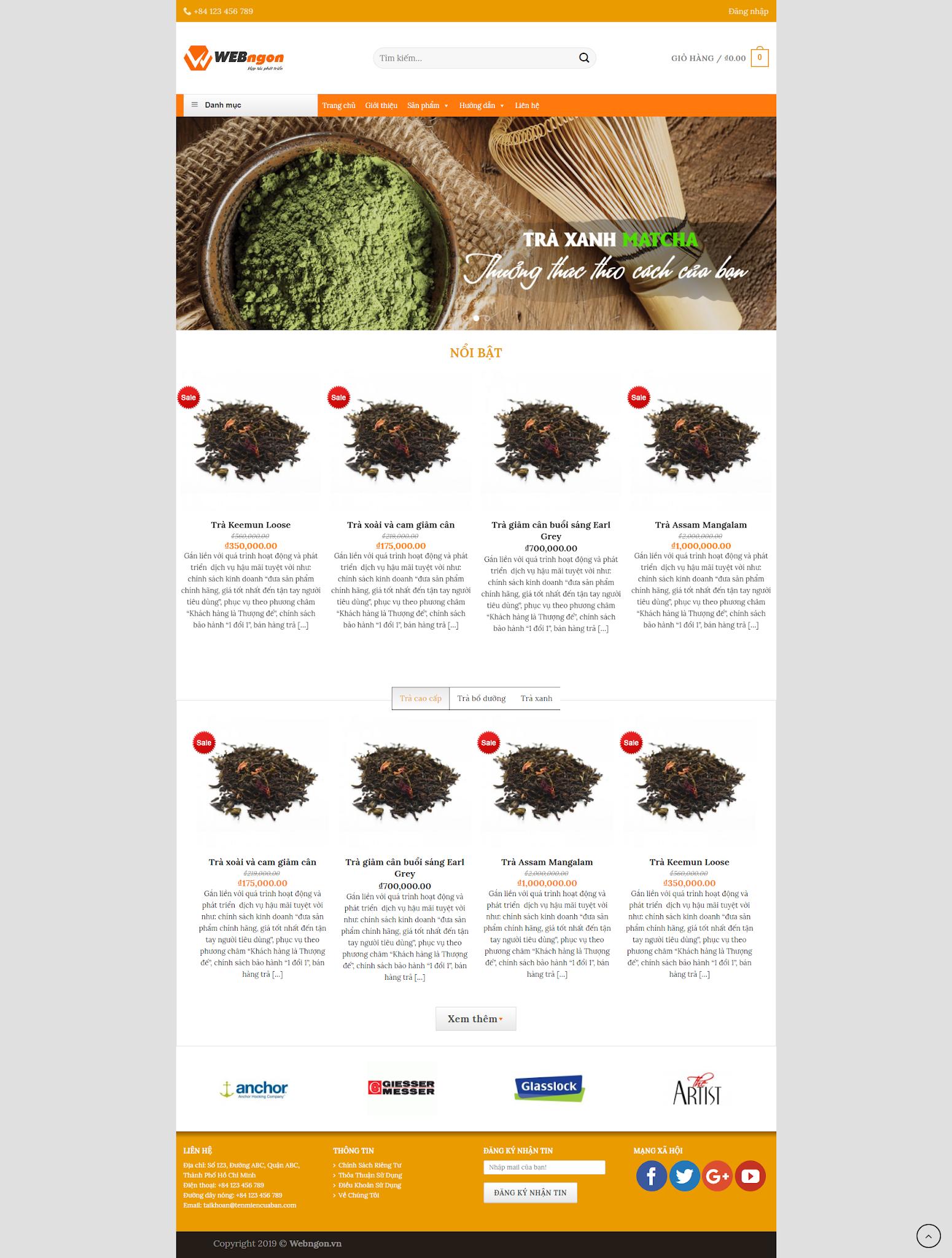 mẫu bán  trà thảo mộc wn035