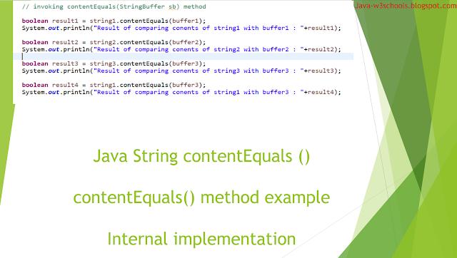 String contentEquals() method
