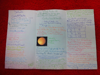 Mrs Thomas' 5th Grade Class Planet Brochure Project!!