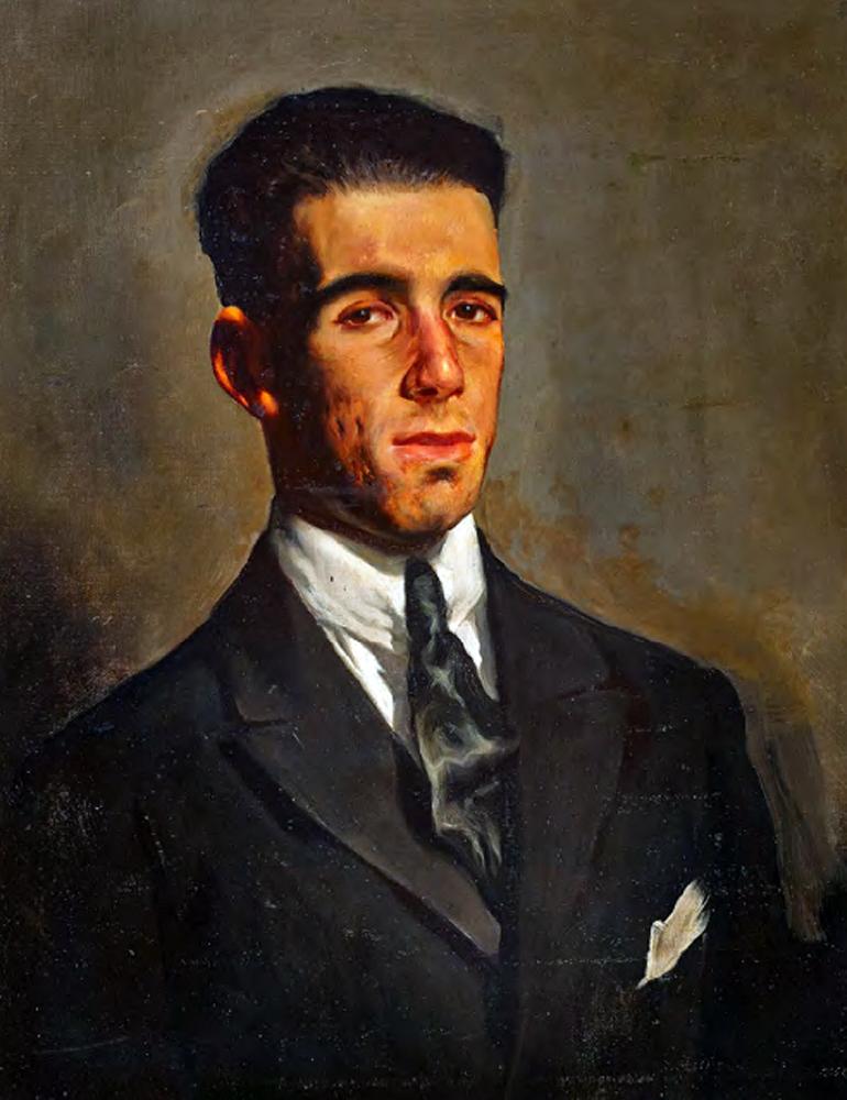 Pedro de Guezala, Pintor españoles, Pedro Guezala García, Pintores Realistas Españoles, Galería de retratos figurativos , 1896  - Pedro de Guezala, Autorretrato
