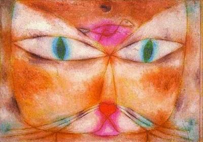 Gato e Pássaro - Paul Klee - (Expressionismo) Suíço