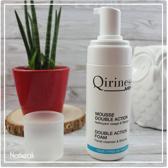 Mousse double action de Qiriness Men