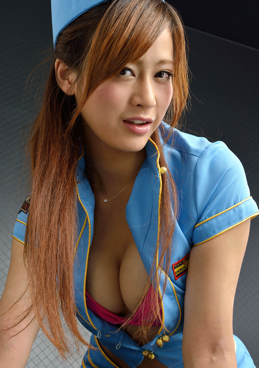 ami kawase sexy flight attendant dress 01