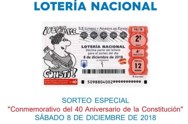 Lotería Nacional del sábado 8 de diciembre, especial de diciembre y la constitución