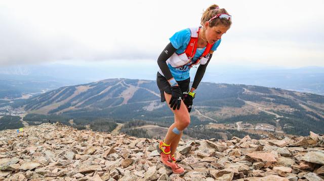 Laura Orgué en Lone Peak
