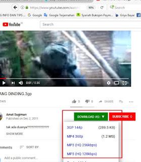 Cara Download Video  Youtube Di Komputer