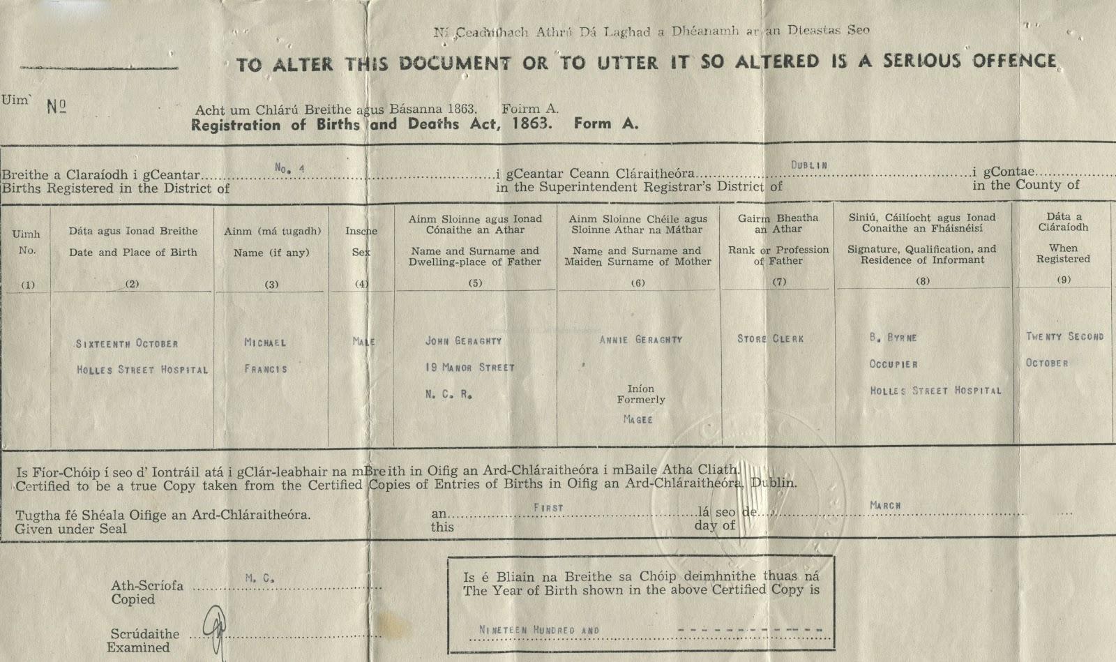 On a flesh and bone foundation': An Irish History: The