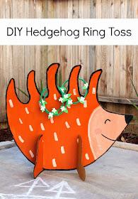 DIY Hedgehog Ring Toss Game