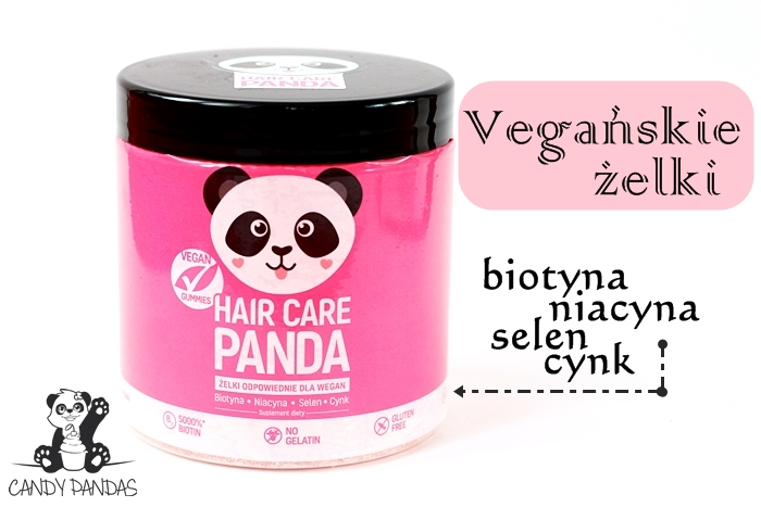 HAIR CARE PANDA Witaminy na włosy w żelkach odpowiednie dla wegan