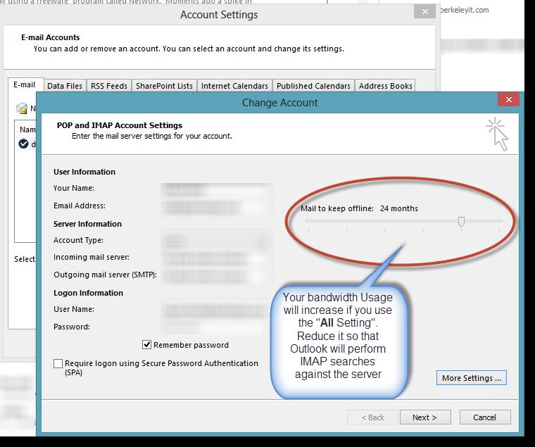 David Klein's Corner: Outlook 2013 Bug when using IMAP - Beware the