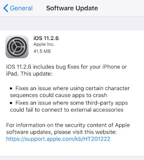 Apple Releases Latest iOS 11.2.6 Update | Amit Chowdhry