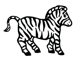 Printable Baby Zebras Coloring Pages
