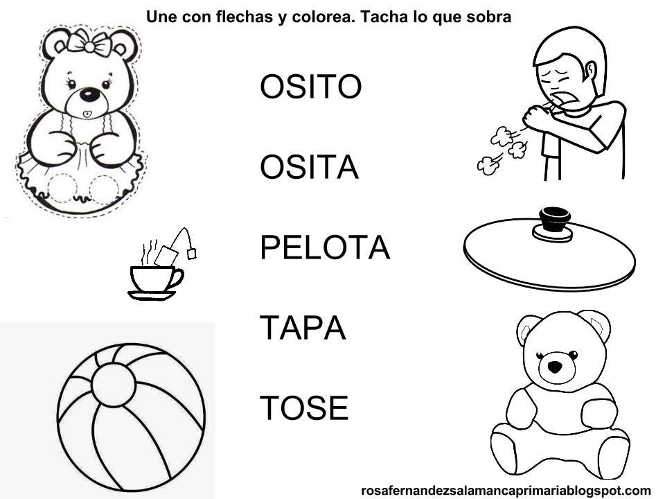 Maestra De Primaria: Fichas De Lectoescritura: Fonema T