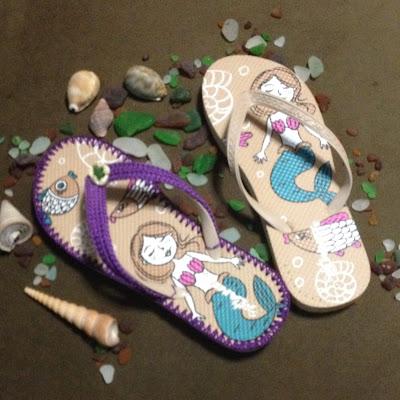 Beach Crochet Flip-flops