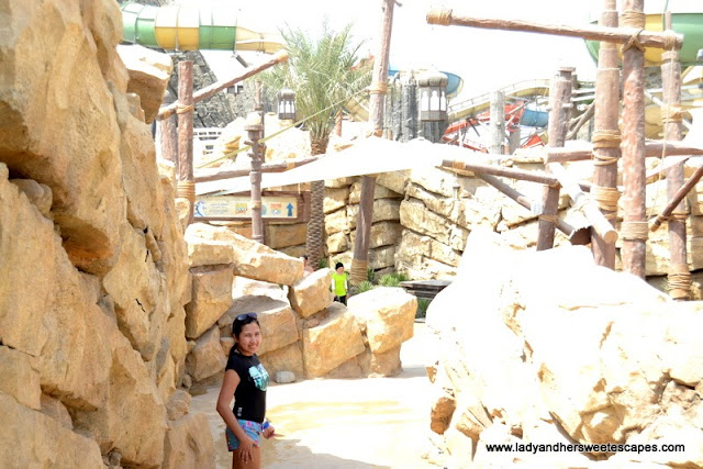 Lady at Yas Waterworld