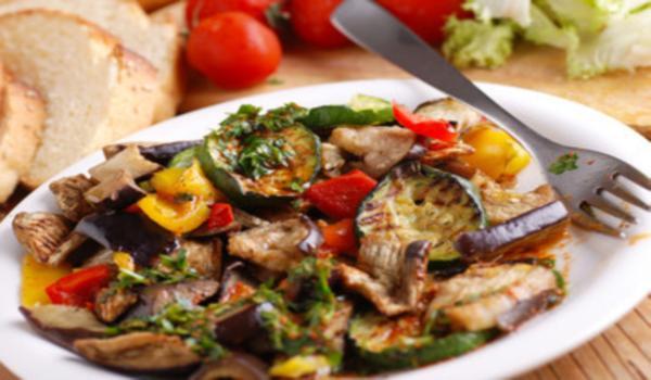 Antipasto de vegetales asados