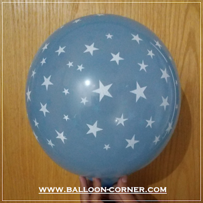 Balon Latex Print Bintang / Star (MURAH)