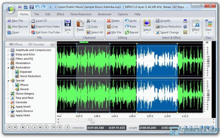 th me 30 les 10 meilleurs logiciels gratuits d dition audio freewares tutos. Black Bedroom Furniture Sets. Home Design Ideas