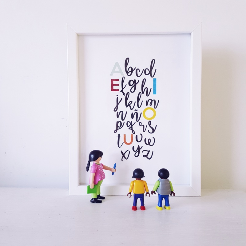 lamina abecedario imprimible decoracion infantil