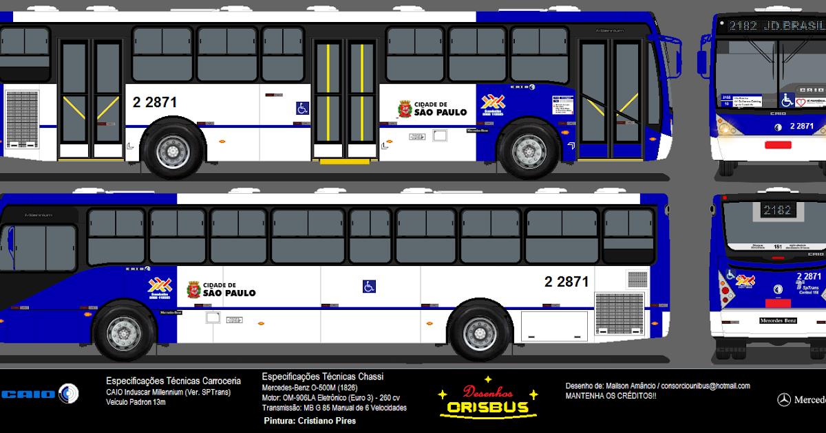 Desenhos de Ônibus Crisbus: 2 2871 Sambaíba - Caio Millennium II ...