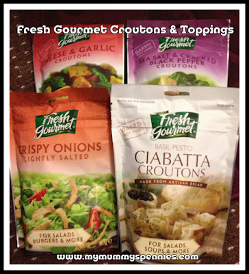 Fresh Gourmet Croutons and toppings for salads and soups