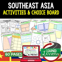 Southeast Asia Geography Activities, World Geography Graphic Organizers, World Geography Digital Interactive Notebook, World Geography Summer School, World Geography Google Activities