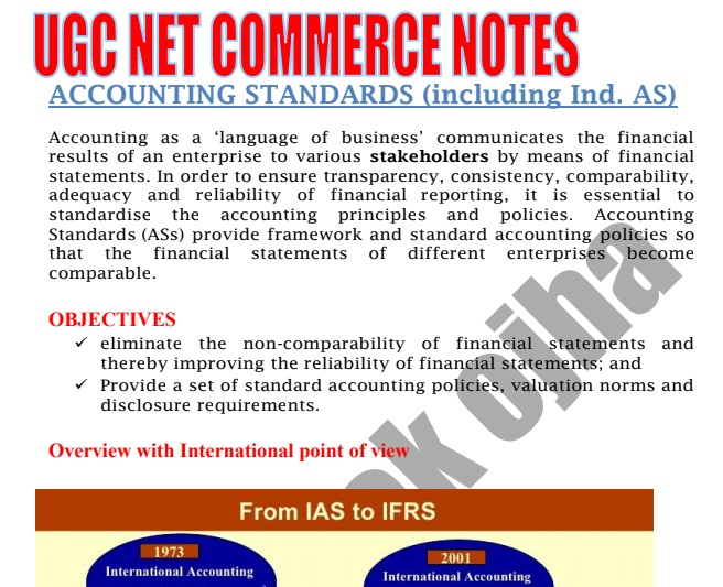 Accounting Standards UGC NET Commerce Notes PDF Download - Matterhere